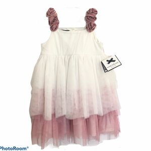 Wendy Bellissimo pink and white tulle dress